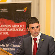 08.12.2016                   <br /> Pictured at the launch of the Shannon Airport Christmas Racing Festival at Hunt Museum was Liam Aherne, Live 95. Picture: Alan Place