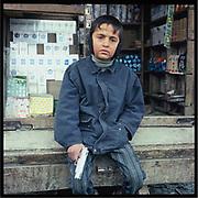 A street vendor in Kabul.