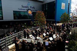 The SW Comms Band in the Piazza Area prior to kick off  - Mandatory by-line: Ryan Hiscott/JMP - 19/10/2019 - RUGBY - Sandy Park - Exeter, England - Exeter Chiefs v Harlequins - Gallagher Premiership Rugby