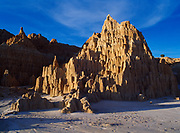 Badland formations, Cathedral Gorge State Park, Nevada.