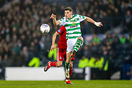 Ryan Christie (#17) of Celtic controls a long pass during the Betfred Cup Final between Celtic and Aberdeen at Celtic Park, Glasgow, Scotland on 2 December 2018.