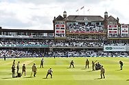 A world war 1 cricket match re-enactment between English Army v India Army at lunch during day 3 of the 5th test match of the International Test Match 2018 match between England and India at the Oval, London, United Kingdom on 9 September 2018.