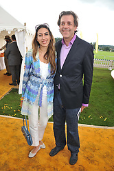 JAMES & TARA WHITE at the 2012 Veuve Clicquot Gold Cup Final at Cowdray Park, Midhurst, West Sussex on 15th July 2012.