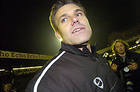 Photo: Olly Greenwood.<br />Southend United v Manchester United. Carling Cup. 07/11/2006. Southend's manager Steve Tilson celebrates beating Manchester United 1-0