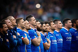 November 24, 2018 - Roma, RM, Italy - Italy line up during the Cattolica Test Match 2018 between Italy and All Blacks at Olympic Stadium on November 24, 2018 in Rome, Italy. (Credit Image: © Danilo Di Giovanni/NurPhoto via ZUMA Press)