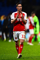 Fleetwood Town's Josh Morris applauds the fans at the end of the match<br /> <br /> Photographer Richard Martin-Roberts/CameraSport<br /> <br /> The EFL Sky Bet League One - Bolton Wanderers v Fleetwood Town - Saturday 2nd November 2019 - University of Bolton Stadium - Bolton<br /> <br /> World Copyright © 2019 CameraSport. All rights reserved. 43 Linden Ave. Countesthorpe. Leicester. England. LE8 5PG - Tel: +44 (0) 116 277 4147 - admin@camerasport.com - www.camerasport.com
