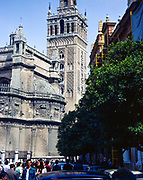 Gerald Tower Seville cathedral 1976, Seville, Spain