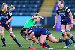 Flo Long of Worcester Warriors Women makes a hit on Leanne Riley of Harlequins Women  - Mandatory by-line: Nick Browning/JMP - 20/12/2020 - RUGBY - Sixways Stadium - Worcester, England - Worcester Warriors Women v Harlequins Women - Allianz Premier 15s