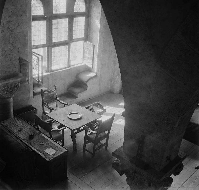 Finstergrün Castle and Muhr River Valley, Ramingstein, Austria, 1937