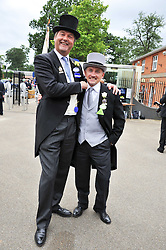 Left to right, the HON.HARRY HERBERT and BARRY MCGUIGAN at day 2 of the 2011 Royal Ascot Racing festival at Ascot Racecourse, Ascot, Berkshire on 15th June 2011.