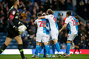 1-0, goal celebration by Adam Armstrong of Blackburn Rovers during the EFL Sky Bet Championship match between Blackburn Rovers and Preston North End at Ewood Park, Blackburn, England on 11 January 2020.