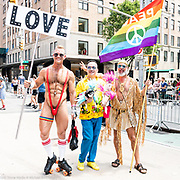 Pride March in New York City, New York on June 24, 2018.