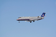 Chicago Illinois USA, United express plane landing at the O'hare international airport