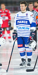 13.02.2016, Olympiaworld, Innsbruck, AUT, Euro Ice Hockey Challenge, Österreich vs Frankreich, im Bild Damien Raux (FRA) // Damien Raux of France during the Euro Icehockey Challenge Match between Austria and France at the Olympiaworld in Innsbruck, Austria on 2016/02/13. EXPA Pictures © 2016, PhotoCredit: EXPA/ Jakob Gruber