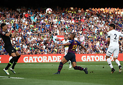 August 15, 2018 - Barcelona, Spain - Rafinha scores during the match between FC Barcelona and C.A. Boca Juniors corresponding to the Joan Gamper Trophy, played at the Camp Nou, in Barcelona on 15th August 2018. (Credit Image: © Joan Valls/NurPhoto via ZUMA Press)