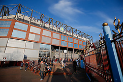 A General View as Aston Villa fans arrive outside Villa Park - Photo mandatory by-line: Rogan Thomson/JMP - 07966 386802 - 07/04/2015 - SPORT - FOOTBALL - Birmingham, England - Villa Park - Aston Villa v Queens Park Rangers - Barclays Premier League.