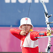 CHENG Ming (CHN) competes in Archery World Cup Final in Istanbul, Turkey, Sunday, September 25, 2011. Photo by TURKPIX