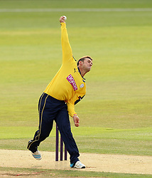 Hampshire's Will Smith bowls - Photo mandatory by-line: Robbie Stephenson/JMP - Mobile: 07966 386802 - 03/07/2015 - SPORT - Cricket - Southampton - The Ageas Bowl - Hampshire v Glamorgan - Natwest T20 Blast