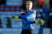 Huddersfield Town's Jonas Lössl warming up during the Premier League match between Huddersfield Town and West Bromwich Albion at the John Smiths Stadium, Huddersfield, England on 4 November 2017. Photo by Paul Thompson.
