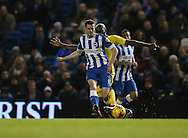 Brighton winger, Jamie Murphy (15) during the Sky Bet Championship match between Brighton and Hove Albion and Leeds United at the American Express Community Stadium, Brighton and Hove, England on 29 February 2016.