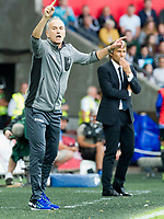 Football — 2016 / 2017 Premier League - Swansea vs Chelsea<br /> <br /> Swansea City manager Francesco Guidolin on the touchline Chelsea F.C. manager Antonio Conte in background at the Liberty Stadium.<br /> <br /> pic colorsport/winston bynorth