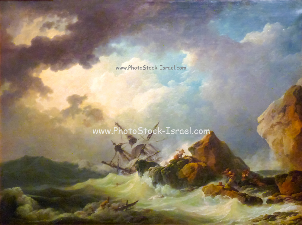 Shipwreck in a great storm Philip James de Loutherbourg RA (31 October 1740 – 11 March 1812), AKA Philippe-Jacques or Philipp Jakob, was a French-born British painter who became known for his large naval works.