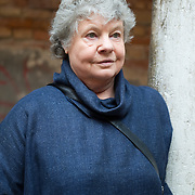 VENICE - ITALY  APRIL 14  Dame A S Byatt poses in Venice ahead of her talk for the Incontri di Civilta'  event ----------------------<br /> Marco Secchi/XianPix<br /> email msecchi@gmail.com<br /> http://www.marcosecchi.com