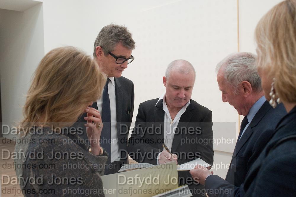 JAY JOPLING; DAMIEN HIRST; FRANCOIS PINAULT Damien Hirst, Tate Modern: dinner. 2 April 2012.