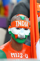 Cricket - 2019 ICC Cricket World Cup - Group Stage: South Africa vs. India<br /> <br /> A colourful India fan during the cricket world cup match at the Hampshire Bowl Southampton England<br /> <br /> COLORSPORT/SHAUN BOGGUST
