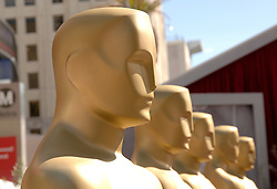 File photo dated 04/03/06 of Oscars statues lined up outside the Kodak Theatre in Los Angeles. This year's Academy Awards could deliver some history-making moments, thanks to a slate of nominations that have smashed records for diversity and representation. Issue date: Saturday April 24, 2021.