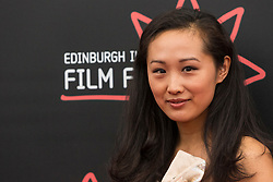 Photo-opportunity for The Receptionist directed by Jenny Lu at the Edinburgh International Film Festival<br /> <br /> Pictured: Shuang Teng