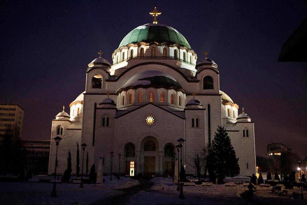 Sveti Sava in Belgrade. February 2012.
