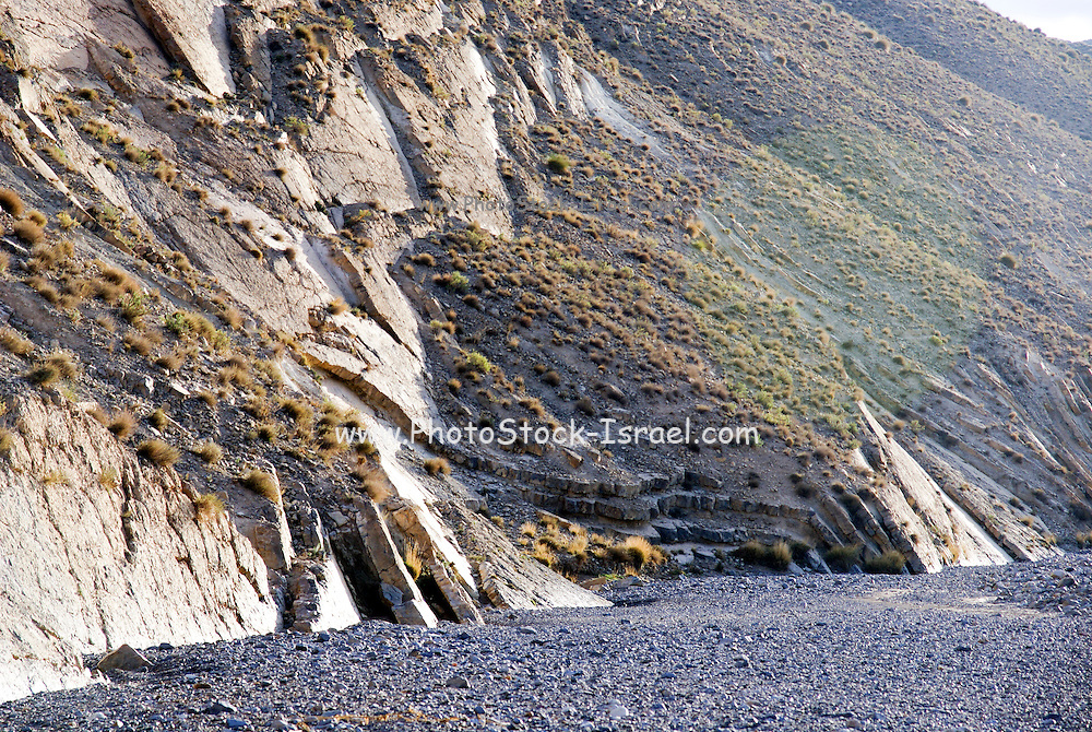 Geology -  Strike-slip fault. Photographed in Morocco