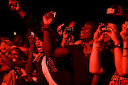 Nice (Cimiez), France. July 24th 2009. .The audience during Youssou N'Dour concert at the Nice Jazz Festival.