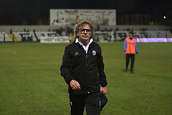 November 3, 2018 - Vercelli, Italy - Pro Vercelli's coach Grieco Vito during Saturday evening's match against Novara Calcio valid for the 10th day of the Italian Lega Pro championship  (Credit Image: © Andrea Diodato/NurPhoto via ZUMA Press)