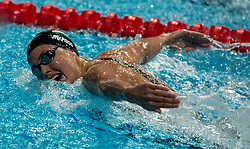 October 5, 2018 - Budapest, Hungary - Jakabos Zsuzsanna of Hungary in the Womens 400m Individual Medley on day two of the FINA Swimming World Cup held at Duna Arena Swimming Stadium on Okt 05, 2018 in Budapest, Hungary. (Credit Image: © Robert Szaniszlo/NurPhoto/ZUMA Press)