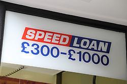 Loan shop sign, Edinburgh.