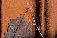 Detail of a rusted bulkhead