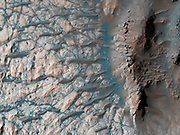 This observation from NASA's Mars Reconnaissance Orbiter (MRO) shows part of the floor of a large impact crater in the southern highlands, north of the giant Hellas impact basin.