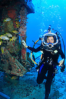 Sylvia Earle Explorers the sea floor at the Aquarius Habitat