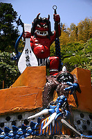 """Kamado Jigoku or the  """"cooking pot hell"""" features several boiling ponds and a fierce kitsch demon statue representing a devilish cook."""