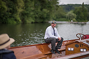 Henley on Thames, United Kingdom. 2016 Henley Masters' Regatta. Henley Reach. England. on Saturday  09/07/2016    [Mandatory Credit/ © Peter SPURRIER]<br /> <br /> Umpires Launch, Driver, Rowing, Henley Reach, Henley Masters' Regatta.<br /> <br /> General View,  Henley Reach, venue, for the 2016 Henley Masters Regatta.<br /> <br /> NIKON CORPORATION  NIKON D810  f1.4  1/5000sec  85mm  16.0MB