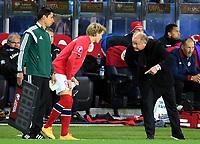 Fotball<br /> UEFA Euro 2016 Matchday 3<br /> Norge v Bulgaria / Norway v Bulgaria 2:1<br /> 13.10.2014<br /> Foto: Morten Olsen, Digitalsport<br /> <br /> Martin Ødegaard (9) - Strømsgodset / NOR<br /> Became the youngest ever player to participate in an EURO game 15 years 301 days<br /> <br /> Per-Mathias Høgmo - head coach NOR