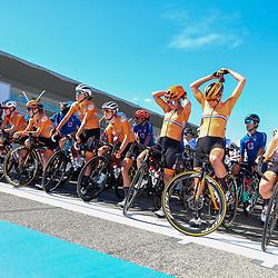 26-09-2020: wielrennen: WK weg vrouwen: Imola<br />Nederlandse vrouwen voor de start