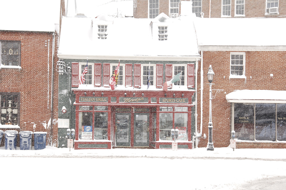 Downtown Annapolis, Maryland after snowstorm