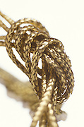 Knotted golden rope