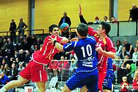 Håndball, Postenligaen<br /> 27.12.2012<br /> Haslum - BSK/NIF<br /> Foto: Ole Walter Sundlo , Digitalsport<br /> Haslum nr 4 Einar Riegelhuth Koren, Haslum