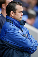Photo: Steve Bond.<br /> Shrewsbury Town v Chesterfield. Coca Cola League 2. 13/10/2007. Lee Richardson looks grim early on
