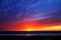 A beautiful sunset on the Oregon Coast in Lincoln City, Oregon