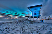HDR Photo Of Lifeguard Tower, Huntington Beach